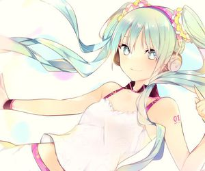 miku hatsune, pigtails, and vocaloid image
