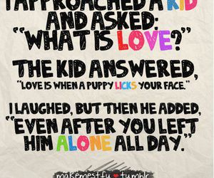 love, puppy, and kids image
