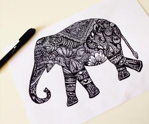 elephant, art, and draw image
