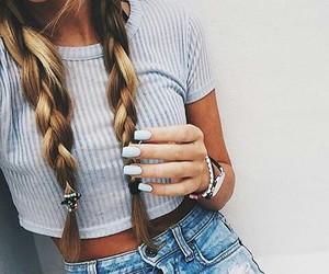 fashion, nails, and blind hair image