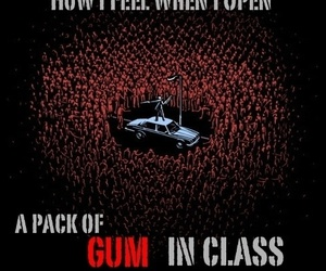 gum, funny, and class image