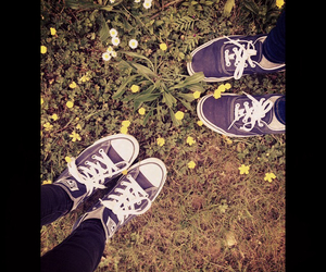 converse, flowers, and friendship image
