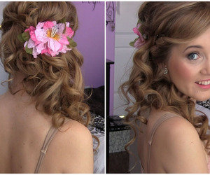 wedding, updos, and long hairstyle image