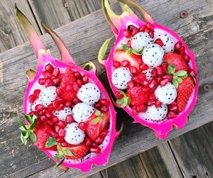 fit, fitness, and dragon fruit image