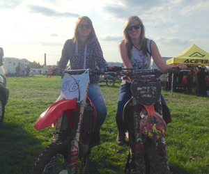 girls, motocross, and Queen image