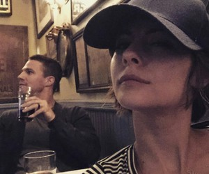 arrow, willa holland, and stephen amell image