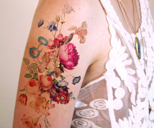 art, tattoo, and water color image