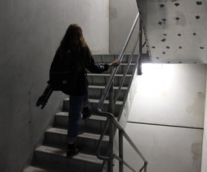 alone, building, and girl image