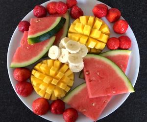 watermelon, strawberry, and banana image