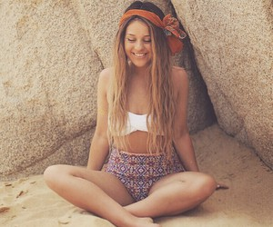 girl, sand, and summer image
