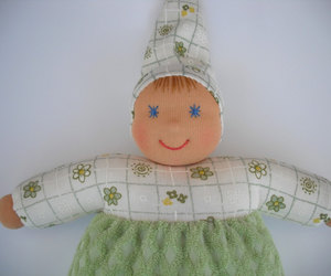 baby, baby doll, and cloth doll image