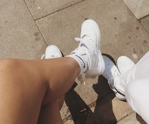 legs, sneakers, and street image