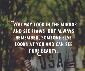 quote, flaws, and pure beauty image
