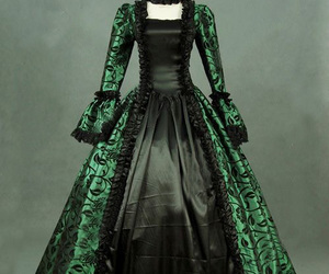 victorian party dress, reenactment costume, and victorian period dress image