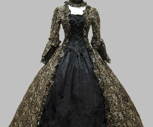 gothic victorian dress, victorian party dress, and victorian period dress image