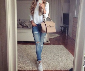 clothes, cool, and hair image