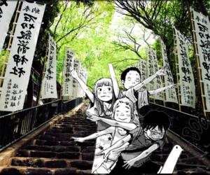 japan, landscape, and manga image