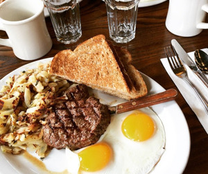 breakfast, cafe, and delicious image