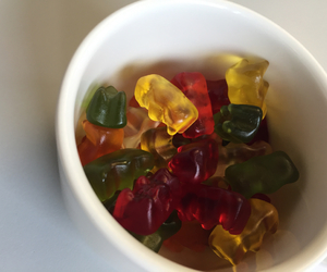 food, green, and gummy image