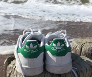 adidas, beach, and shoes image