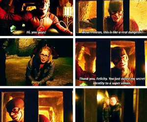arrow, the flash, and barry allen image