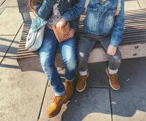 brother, kids, and timberland image
