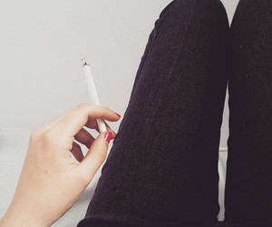 cigarette, girl, and glam image