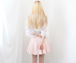 fashion, blonde, and skirt image