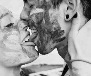 black and white, couple, and crazy image