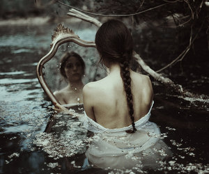 mirror, fantasy, and water image
