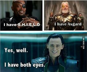 funny, loki, and Avengers image