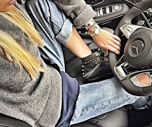 fashion, blonde, and mercedes image