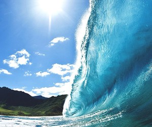 waves, summer, and ocean image