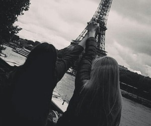 bff, eiffel tower, and france image