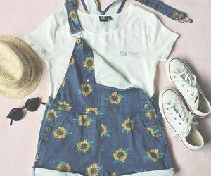 summer, outfit, and white image