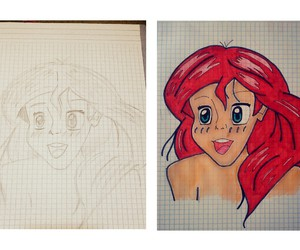 ariel, beauty, and colors image