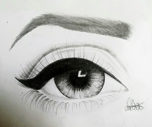 art, eyeliner, and pencil image