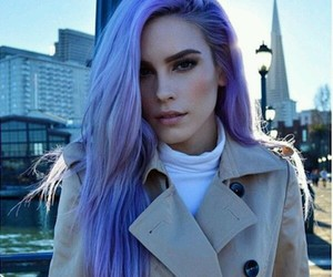 fashion, hair, and purple hair image