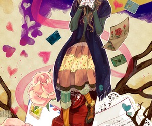 anime, girl, and Letter image