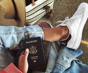 fashion, travel, and passport image