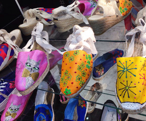 fashion shoes, art shoes, and painted shoes image