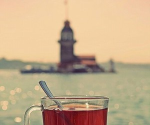 tea, istanbul, and sea image