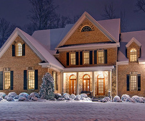 house, winter, and snow image