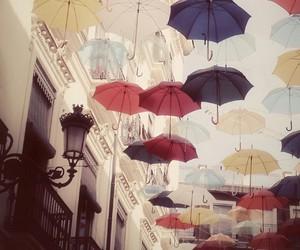 colors, umbrella, and parasol image