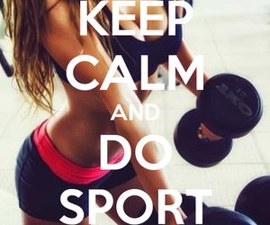sport, girl, and keep calm image
