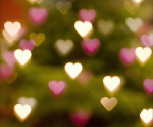 heart, light, and hearts image