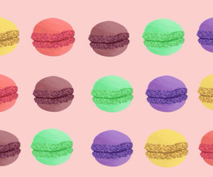 background, iphone wallpaper, and macaroons image