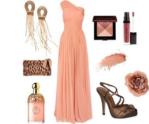 long dress and peach image