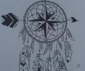 art, draw, and dream catcher image