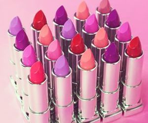 pink, lipstick, and mac image